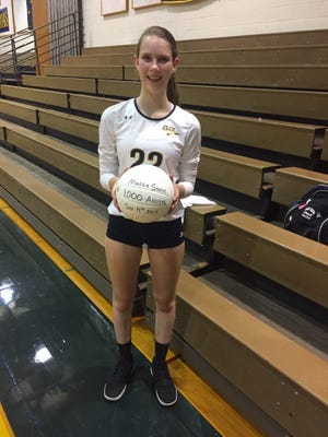 Maddie Stone reached 1,000 career assists in last week's win over Northern Lebanon