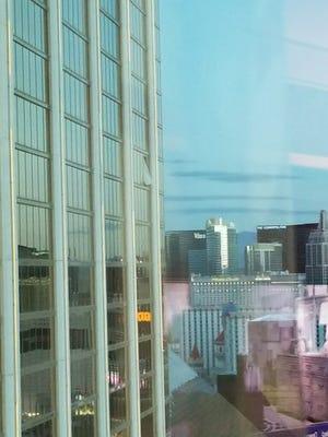 A view of the gunman's 32nd-floor room at Mandalay Bay in Las Vegas.