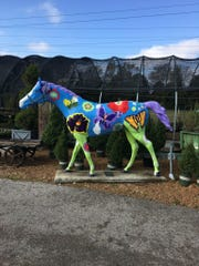"""Mariposa,"" the horse at Millstone Market and Nursery, replaced ""Phloxy,"" which was stolen from the business three years ago."