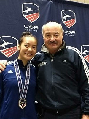 Jessica Lin, 14, who lives in Bernards Township, recently competed in an international fencing competition in Europe.