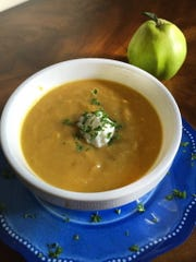 Quince and Butternut Squash Soup with Curry.