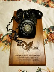 "Lord Burr's ""Smoking Telephone Award."""