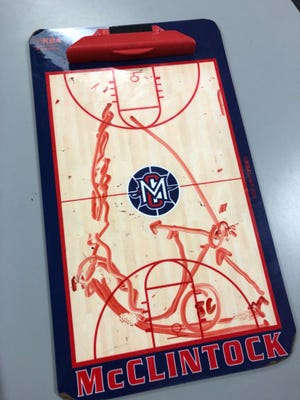 It's been another year of exciting finishes in Arizona high school basketball, exemplified by this play drawn up for Tempe McClintock basketball players.