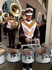 Jason Bonner in his University of Minnesota drum line uniform