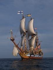 Delaware's tall ship, The Kalmar Nyckel, offers cruises