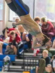 Ryan Black of Chenango Forks competes in diving at