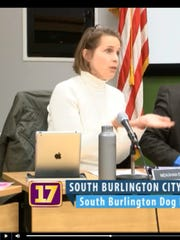South Burlington Vice-Chairwoman Meaghan Emery explained at a meeting on Feb. 20, 2018 that the dog park was closed because a lack of public input.
