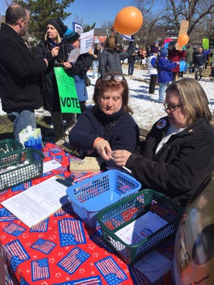 Voter registration at the Asbury Park March for Our Lives.