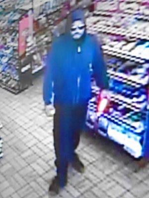 This is a video image of a man suspected of robbing a West El Paso Valero convenience store on March 3, El Paso police said.