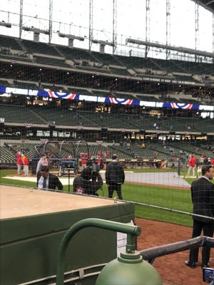 In 2018, all Major League ballparks are compliant with netting that extends to the far sides of the dugouts.