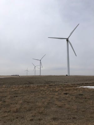 These wind towers are part of the state's first operating wind farm that began operating in 2003 south of Highmore, S.D.