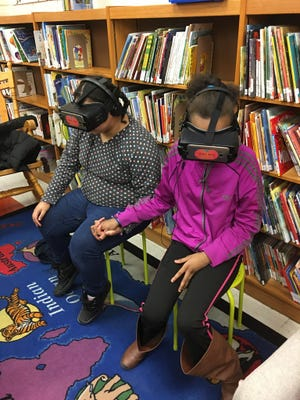 Students at 53rd Street School saw a virtual tour of BrightFarms greenhouses.