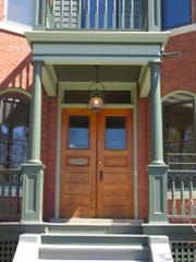 Close-up of the porch at 192 South Union.