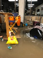 Heavy rain caused 18 inches of water to flood ArtForce Iowa.