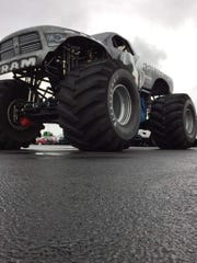 The Raminator, the world's fastest monster truck, is