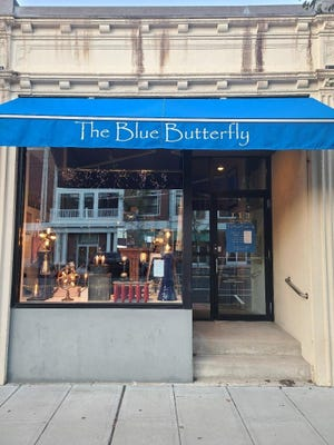 The Blue Butterfly, located at 113 Trapelo Road in Belmont.