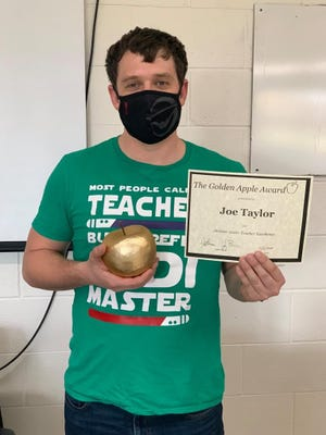Congratulations to Joe Taylor, the recipient of Cuba Middle-Senior High School's Golden Apple Award for the month of October.