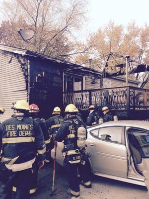 Firefighters battled a house fire in the 3700 block of Southeast 10th Street shortly after 2:30 p.m. Monday.