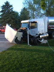 According to Sheriff Ron Richardson, a passenger car was traveling north on the state road when it crossed the center line and struck a southbound semi-tractor with tanker trailer.