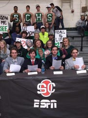 At one game,  Bolivar students set up a stage as a parody of ESPN's College GameDay show.