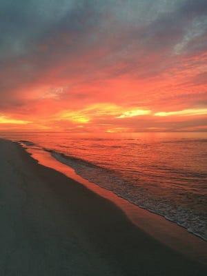 Sunrise on Pensacola Beach.