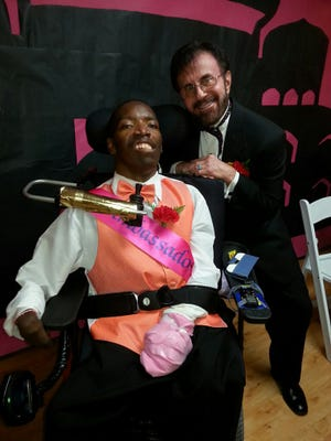 For Hacienda Healthcare residents, it's the most exciting night of the year, said Jibri Crawford (left), 39, who first came up with the idea for prom 10 years ago.