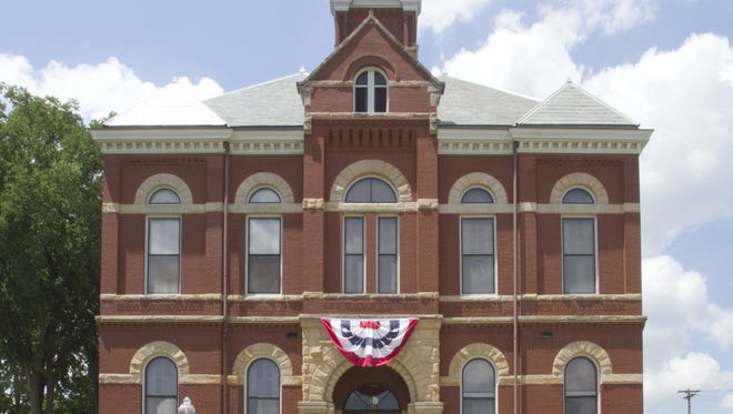 The historic Livingston County Courthouse in downtown Howell.