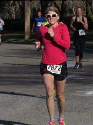 Leon County Circuit Judge Angela Dempsey runs in the New York City Marathon