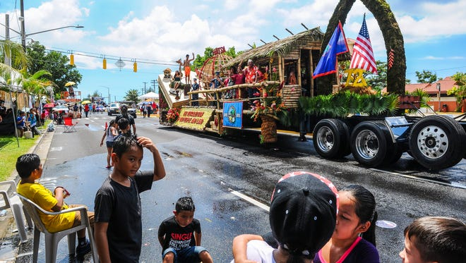 """In this 2016 file photo, the 72nd Liberation Day Parade was held on Marine Corps Drive in Hagåtña, from Adelup Point to the Paseo Loop intersection, on Thursday, July 21. The theme of this year's parade is, """"Hatsa, The Revitalization of Our People and Our Land."""""""