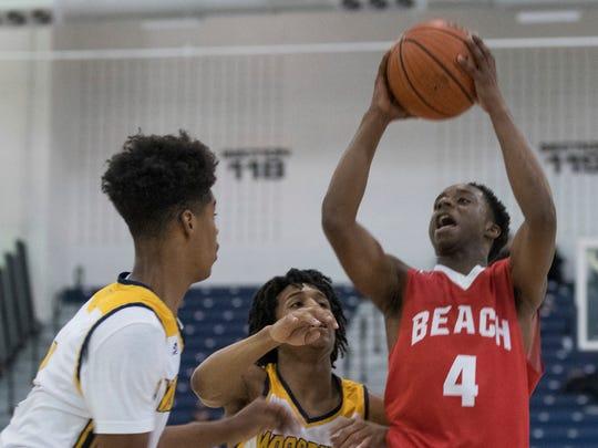 Point Pleasant Beach Boys Basketball vs Woodbury in