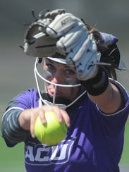 ACU starter Sidney Holman delivers a pitch in the first