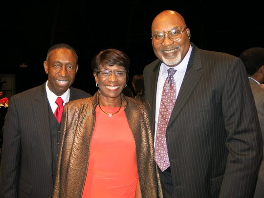 Longtime Caddo Parish educator and former school board president Carl Pierson (right) poses with former Shreveport Mayor Ollie Tyler and McDonald's franchisee Roy Griggs. Pierson passed away Monday.