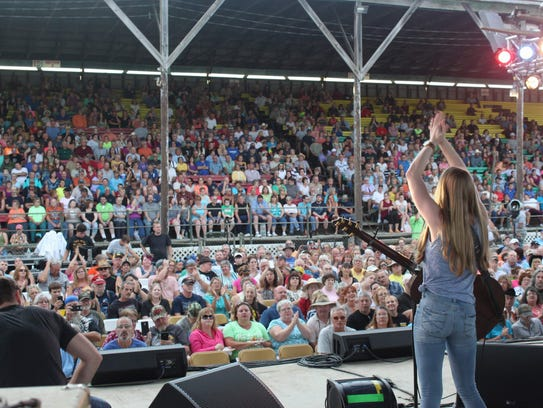 East Rochester native Alyssa Trahan at a concert at