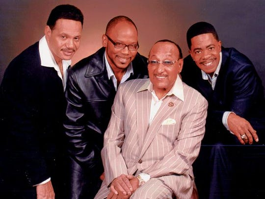The Four Tops (top) and The Temptations will perform