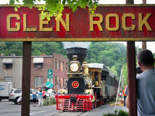 The York No. 17 locomotive, part of Steam Into History, leaves Glen Rock in June 2013. The site will be one of several that members of the Association of Tourist Railroads and Railway Museums and National Railway Historical Society plan to visit during their joint spring conference, which will be held at the Yorktowne Hotel from Thursday through Saturday.