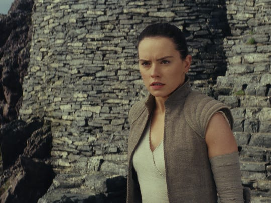 Star Wars: The Last Jedi..Rey (Daisy Ridley)..Photo: Industrial Light & Magic/Lucasfilm..2017 Lucasfilm Ltd. All Rights Reserved.