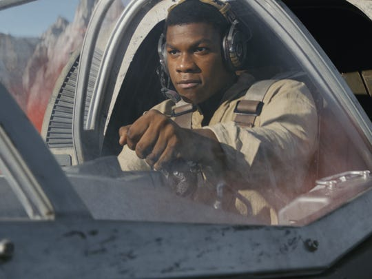 "Finn (John Boyega) in ""Star Wars: The Last Jedi."""