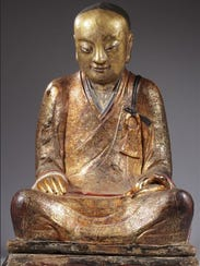 The Chinese Buddha statue containing remains of a monk