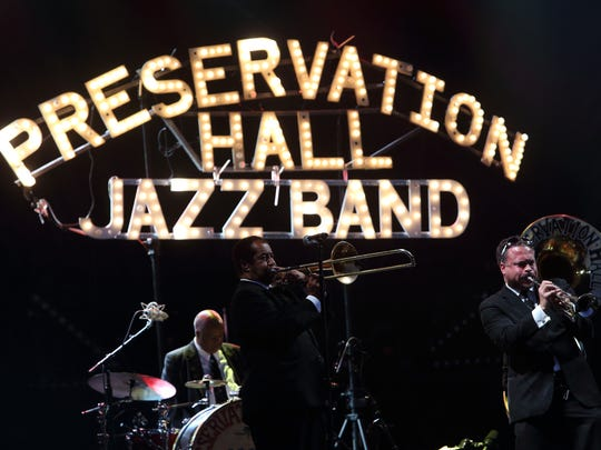 The Preservation Hall Jazz Band performs at the 2013 Voodoo Music + Arts Experience in New Orleans Louisiana.