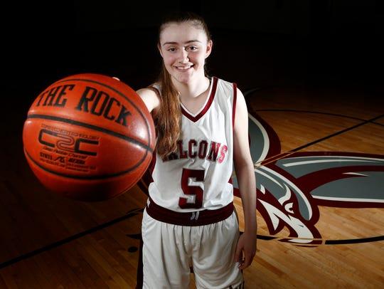 Albertus Magnus junior Kate Mager, Rockland girls basketball
