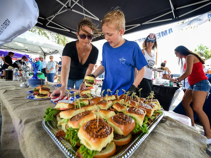 Burgers sizzle beers flow at burgers and brews fest in for Crafts and stuff vero beach