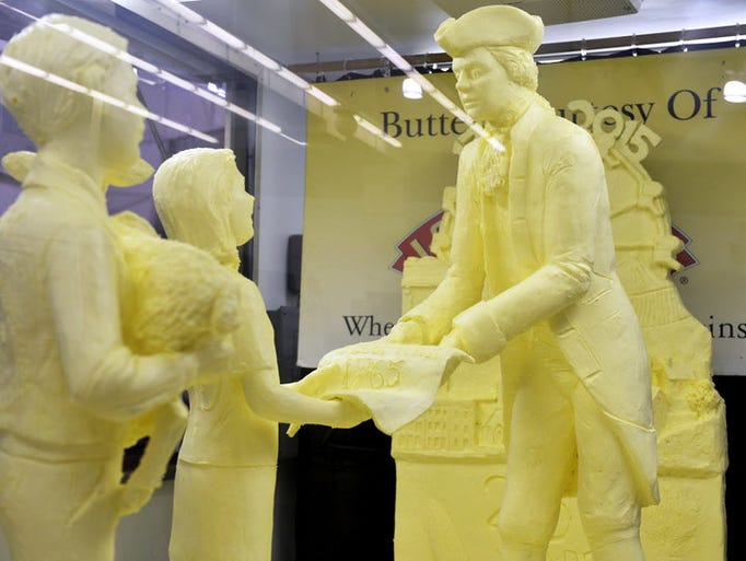 The York Fair's annual butter sculpture was revealed