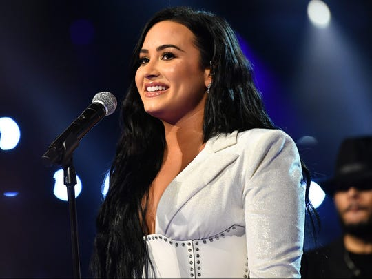 Demi Lovato performs onstage at the 2020 Grammy Awards.