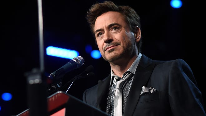 Robert Downey Jr. speaks onstage during the 26th Annual Palm Springs International Film Festival Film Festival Awards Gala at Palm Springs Convention Center on January 3, 2015 in Palm Springs, California.