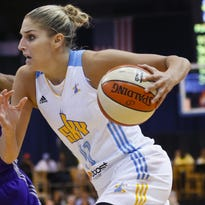 Chicago Sky forward Elena Delle Donne, who leads the WNBA at 29 points a game, finished with 26 against the Liberty on Tuesday, but was only 8 of 20 from the field.