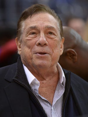 Donald Sterling attends a Clippers game in January against the Lakers.