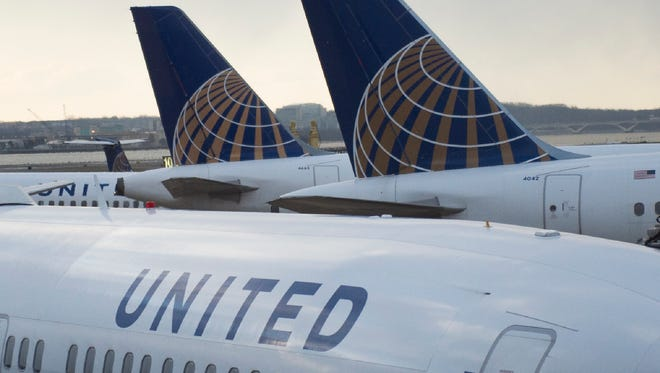 United planes parked at D.C.'s Reagan National Airport on Feb. 13, 2016.