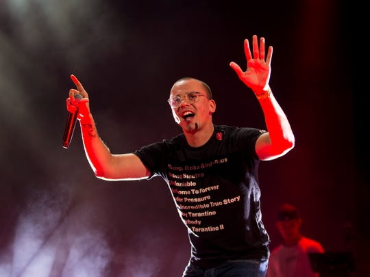 Logic performs at the American Family Insurance Amphitheater.