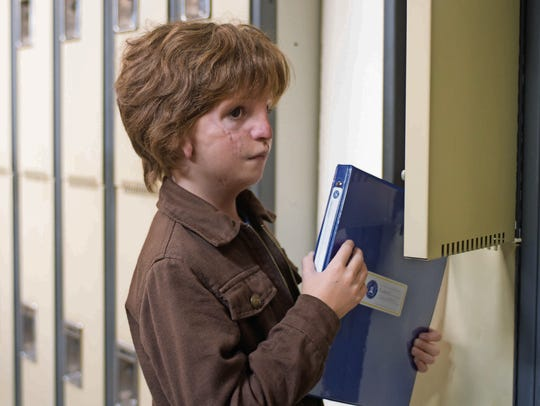 "Jacob Tremblay as Auggie in ""Wonder."""