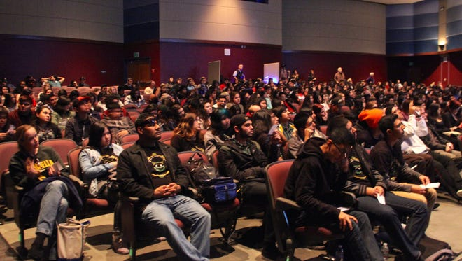 Students across the Coachella Valley gathered at Rancho Mirage High School's Helene Galen Performing Arts Center on Monday to watch two movies that were featured on the Palm Springs International Film Festival.